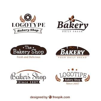 Conjunto de logotipos de padaria