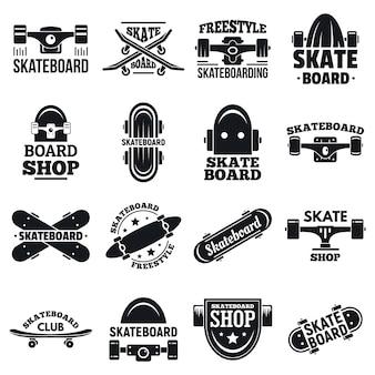 Conjunto de logotipos de skate