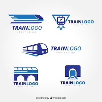 Conjunto de logótipos de trem
