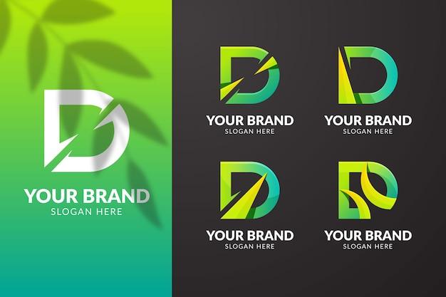 Conjunto de logotipos diferentes de gradiente d