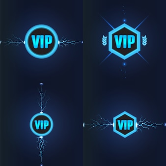 Conjunto de logotipos do clube vip