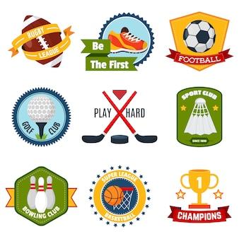 Conjunto de logotipos esportivos