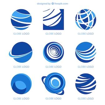 Conjunto de logotipos modernos em estilo abstrato