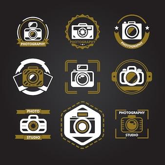 Conjunto de logotipos para fotógrafos.