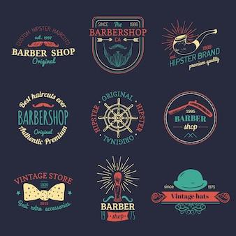 Conjunto de logotipos vintage hipster.