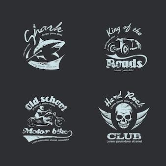 Conjunto de logotipos vintage retro
