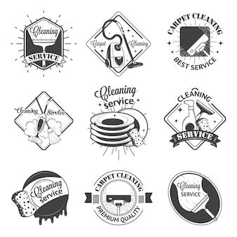 Conjunto de logotipos vintage