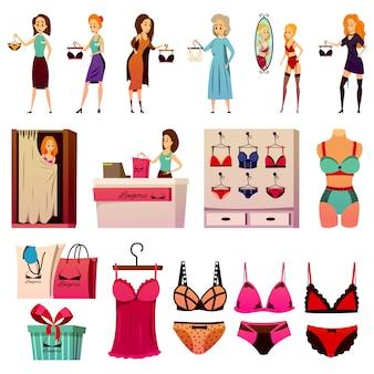Conjunto de loja de lingerie bvd