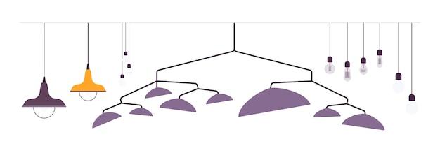 Conjunto de luminárias pendentes