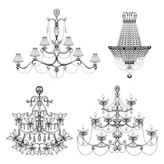 Conjunto de lustre decorativo