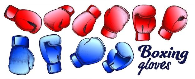 Conjunto de luvas de boxe para competição de esporte
