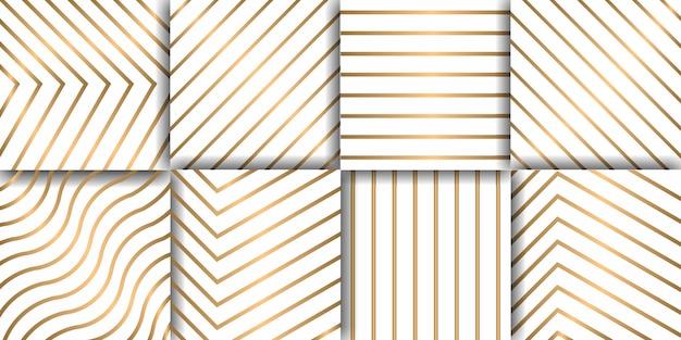 Conjunto de luxo padrão geométrico sem emenda, papel de parede decorativo.
