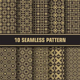 Conjunto de luxo padrão geométrico sem emenda