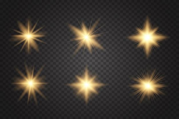 Conjunto de luz brilhante explode.