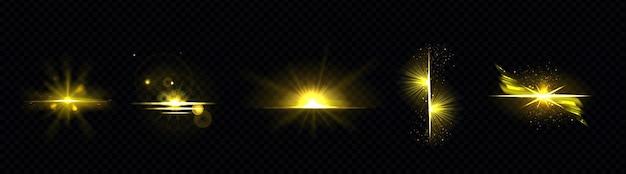 Conjunto de luz dourada