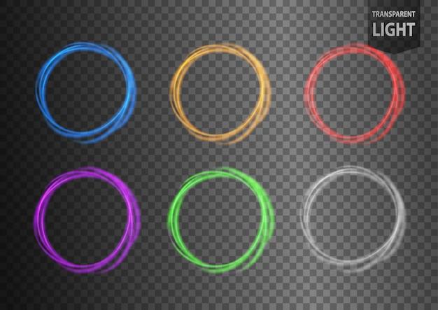 Conjunto de luz redonda e torcida
