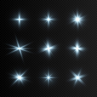 Conjunto de luzes azuis