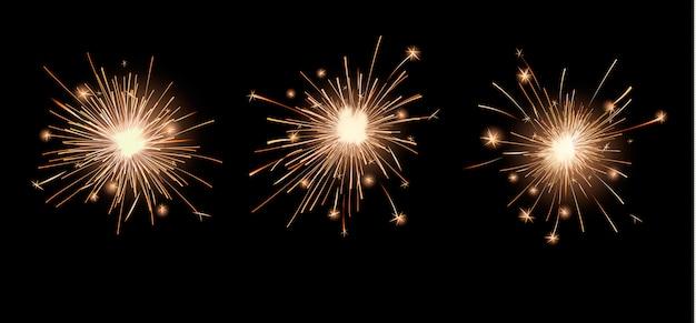 Conjunto de luzes brilhantes de bengala