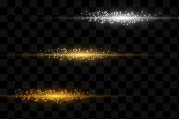 Conjunto de luzes brilhantes