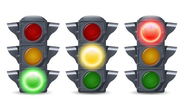 Conjunto de luzes de trânsito