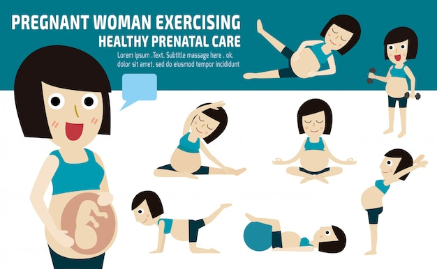 Conjunto de mãe de corpo inteiro relaxar com pilates