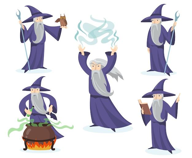 Conjunto de mágico medieval.