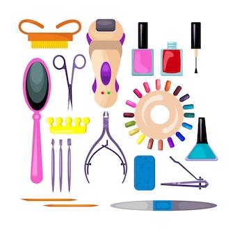 Conjunto de manicure e pedicure