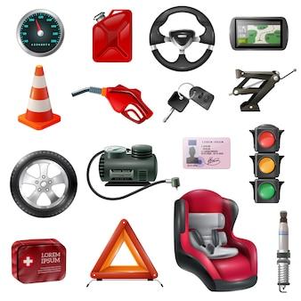 Conjunto de manutenção de carro