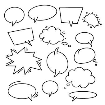 Conjunto de mão desenhada elementos infográfico sobre fundo branco ... setas abstratas. art. linear conjunto de formas diferentes. ilustração
