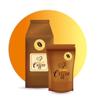 Conjunto de maquete de branding para cafeteria, restaurante, maquete de identidade corporativa, sacolas de papel e zip de café especial