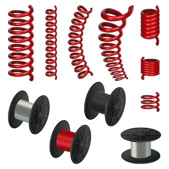 Conjunto de maquete de cabo de mola de bobina