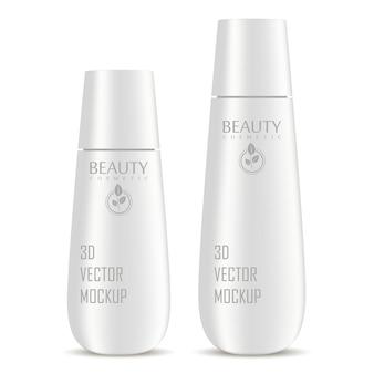 Conjunto de maquete de frascos cosméticos