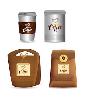 Conjunto de maquete de marca para cafeteria, restaurante, maquete de identidade corporativa, apresentações de café especial