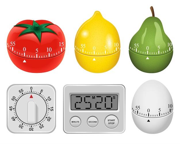 Conjunto de maquete de temporizador de cozinha