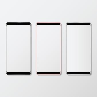 Conjunto de maquete do dispositivo digital