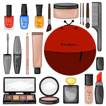 Conjunto de maquiagem cosméticos