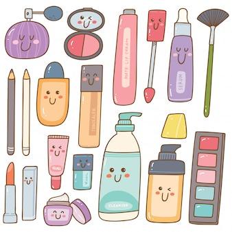 Conjunto de maquiagem kit kawaii doodles