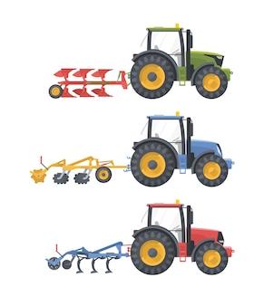 Conjunto de máquinas agrícolas com equipamentos