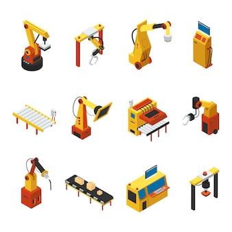 Conjunto de máquinas automatizadas isométricas