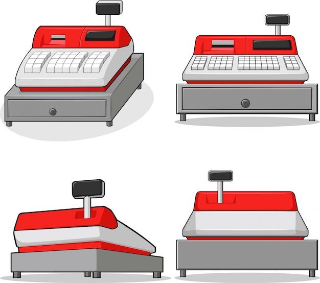 Conjunto de máquinas de caixa