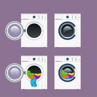 Conjunto de máquinas de lavar
