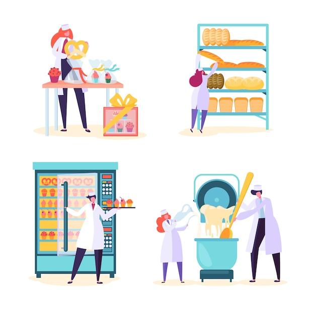Conjunto de máquinas de produção de alimentos de fábrica de padaria
