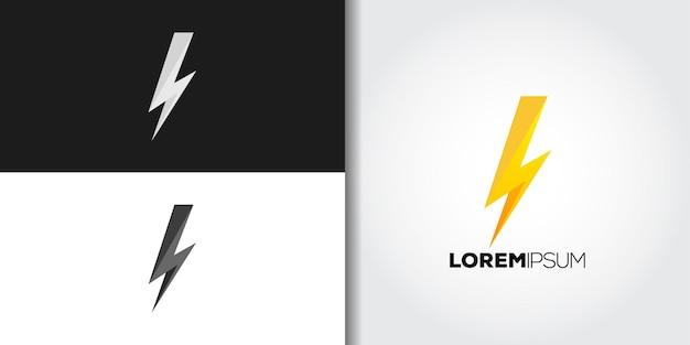 Conjunto de marca de logotipo em flash simples