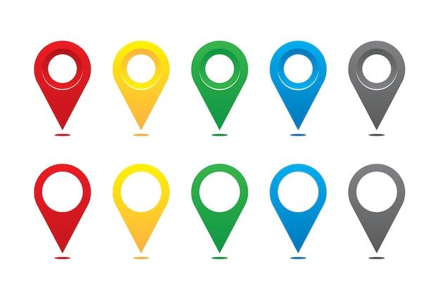 Conjunto de marcadores de mapeamento.