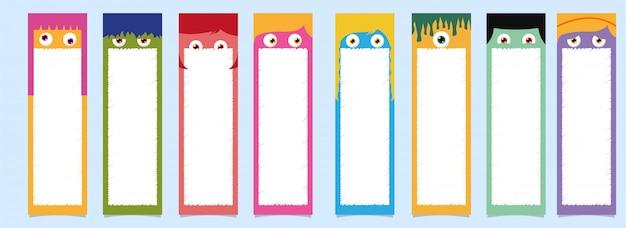 Conjunto de marcadores para impressão.