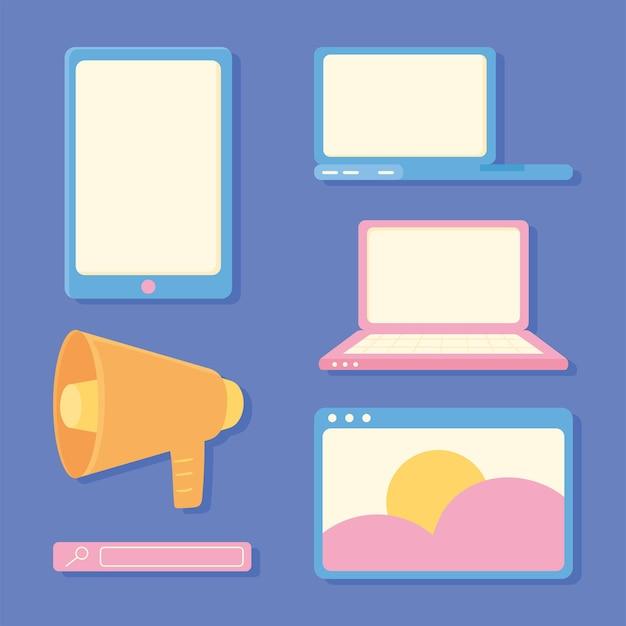 Conjunto de marketing digital