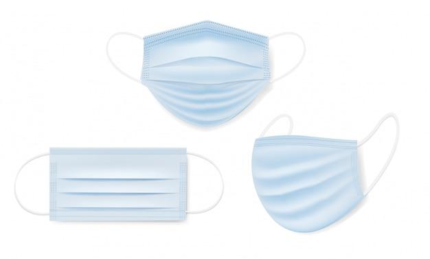 Conjunto de máscara médica isolado