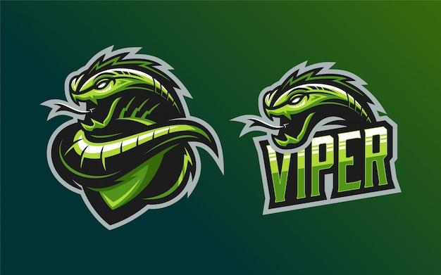 Conjunto de mascote de logotipo viper
