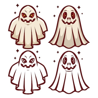 Conjunto de mascote fantasma