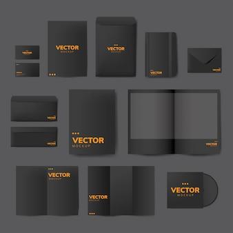 Conjunto de material de impressão projeta maquete